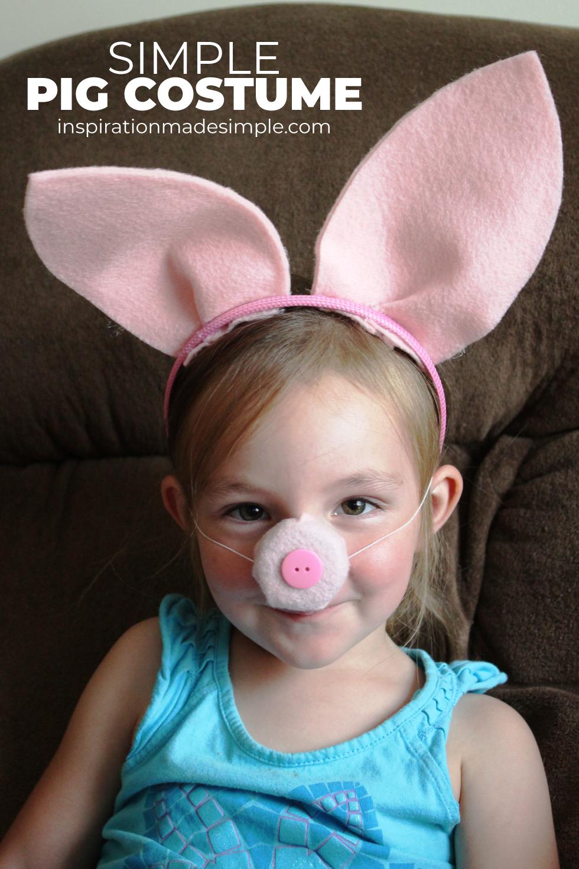 Simple Pig Costume Tutorial