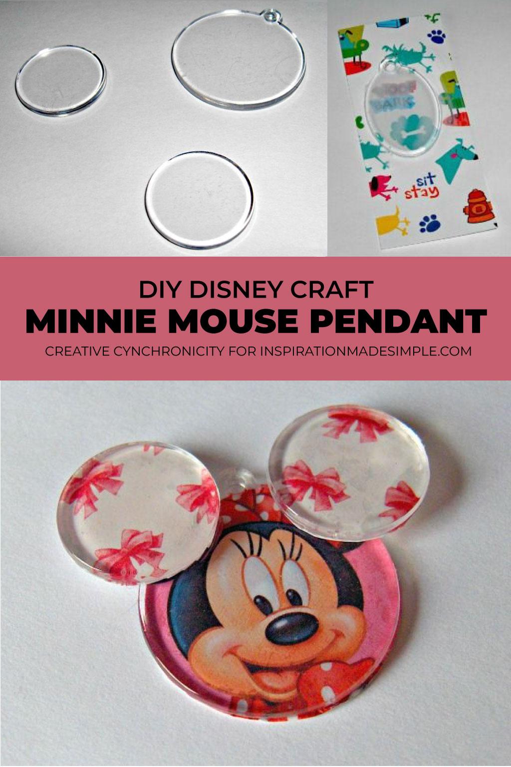 DIY Disney Craft: Minnie Mouse Pendant