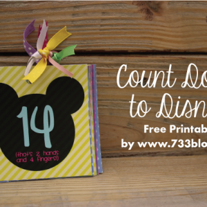 Count Down to Disney Free Printable
