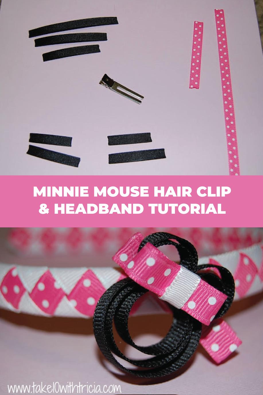 DIY Minnie Mouse Hair Clip & Headband