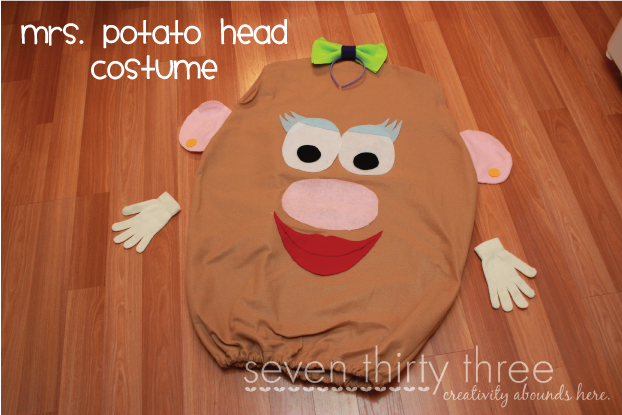 DIY Mrs Potato Head Costume