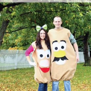 Easy to Make Mr & Mrs Potato Head Costumes