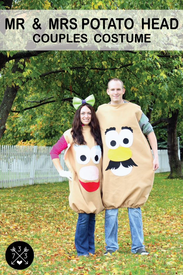 Easy to Make Mr & Mrs Potato Head Costumes