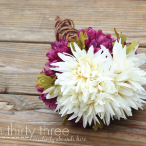 DIY Twine and Wire Wrapped Bouquet