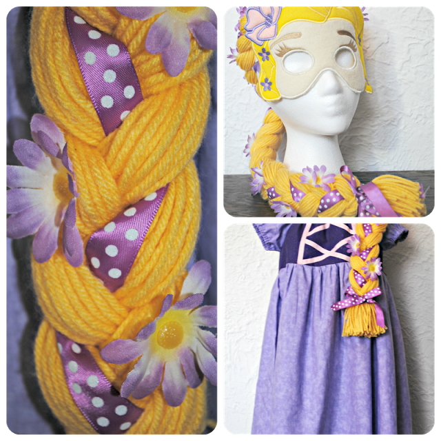 DIY Rapunzel Wig from Chameleon Girls via @733blog