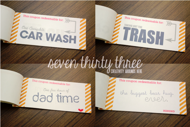 DIY Coupon Book Free Printable