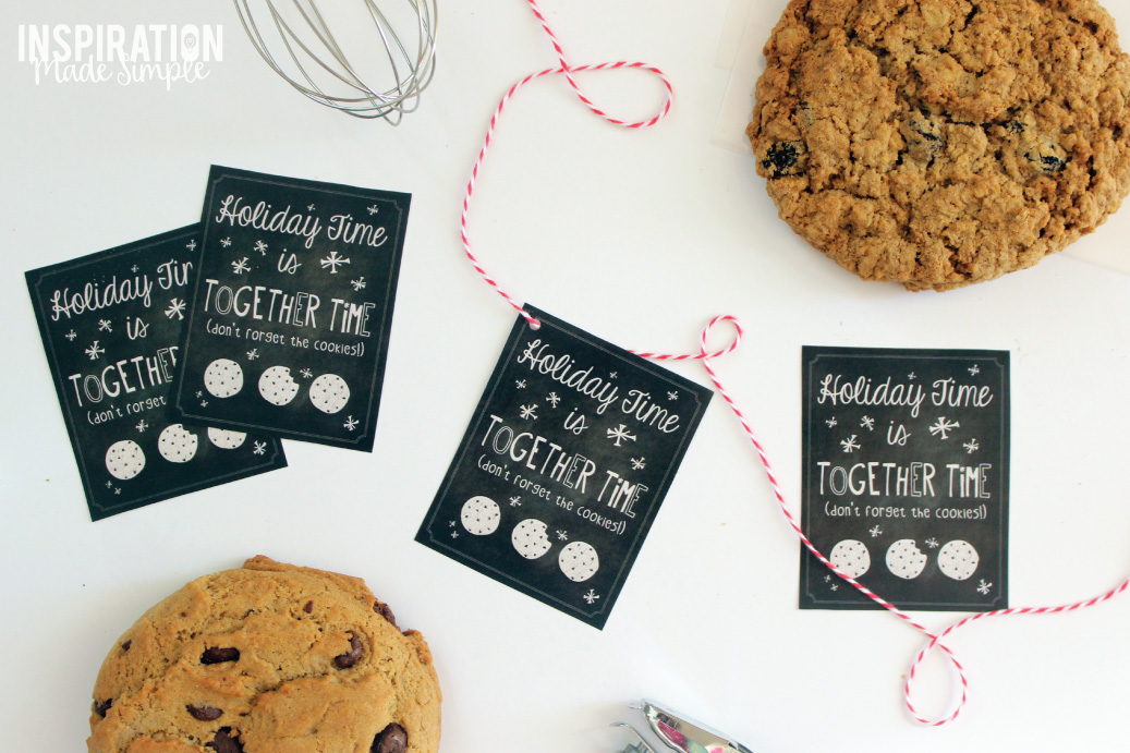 Holiday Cookie Exchange Printable Gift Tags
