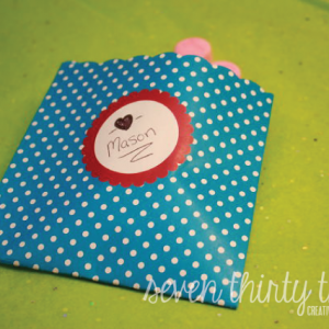 Robot Valentine Treat Envelope