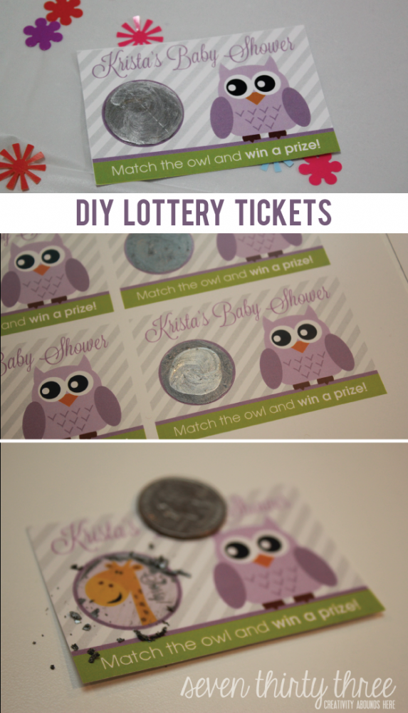 DIY Lottery Tickets are an easy to make party game!