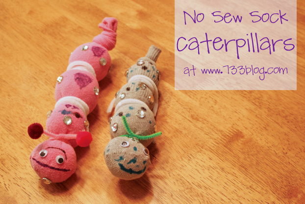 No Sew Sock Caterpillar
