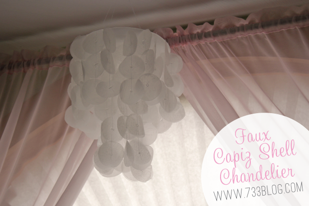 Faux Capiz Shell Chandelier Tutorial