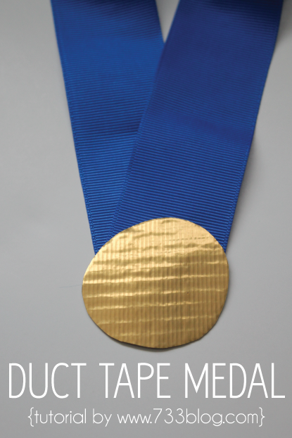 Duct Tape Medals {Kids Craft}
