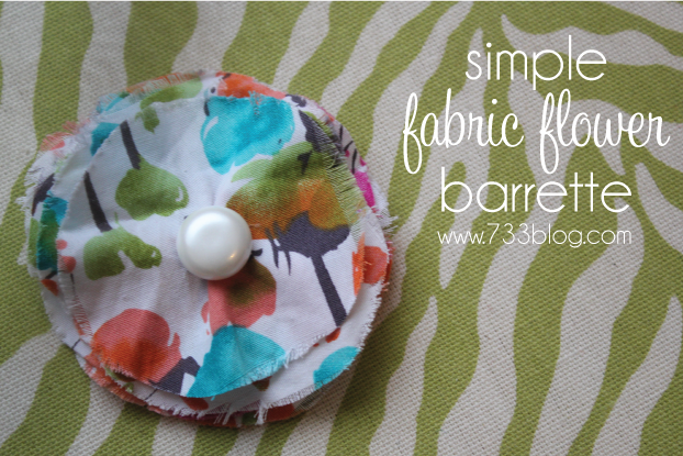 Simple Layered Fabric Hair Clip Tutorial