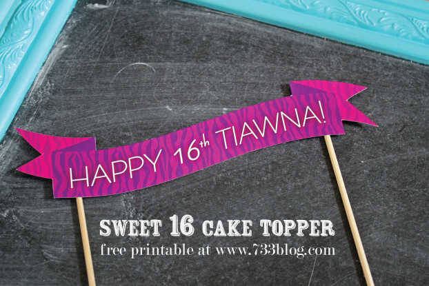 Sweet 16 Cake Topper Free Printable