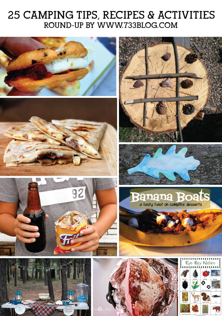 25 Camping Tips, Recipes and Activities {A Round-Up}