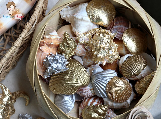 Gilded Seashells {Home Decor}