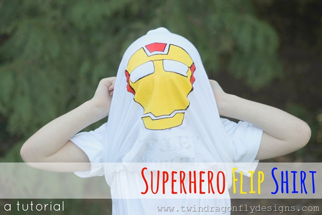 Superhero Flip Shirt Tutorial