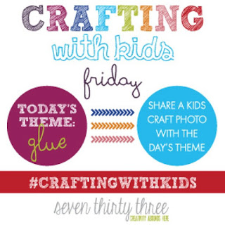 Fun Kids Project using Glue {Crafting with Kids}