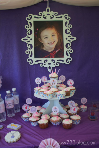 Sofia the First Birthday Party Dessert Table