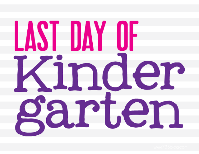Last Day of Kindergarten Sign