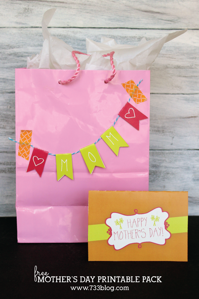 Printable Mother's Day Mini Bunting and Card
