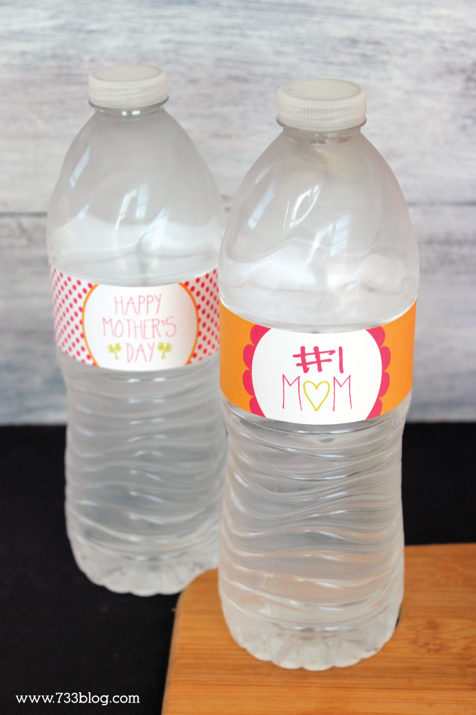 Free Printable Mother's Day Water Bottle Labels