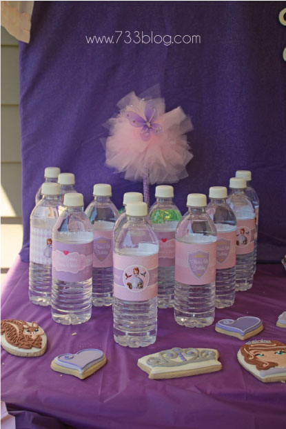 Sofia the First Water Bottle Labels