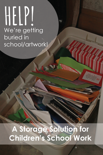 Children's Artwork/Schoolwork {A Storage Solution}