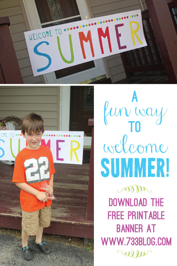 Welcome to Summer Free Printable Banner