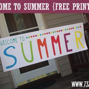 Welcome to Summer Printable Banner