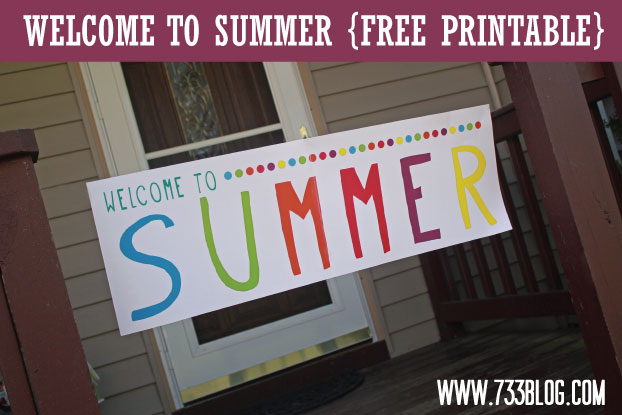Free Printable Welcome to Summer Banner