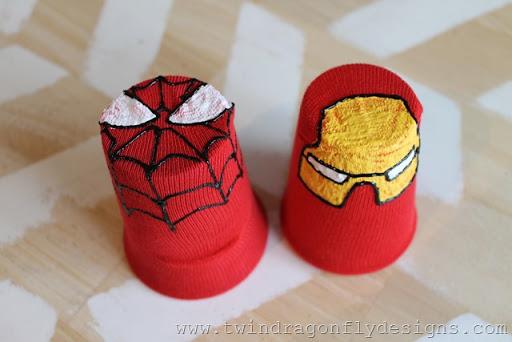 DIY Super Hero Sock Puppet Tutorial
