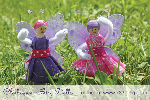 Clothespin Fairy Dolls
