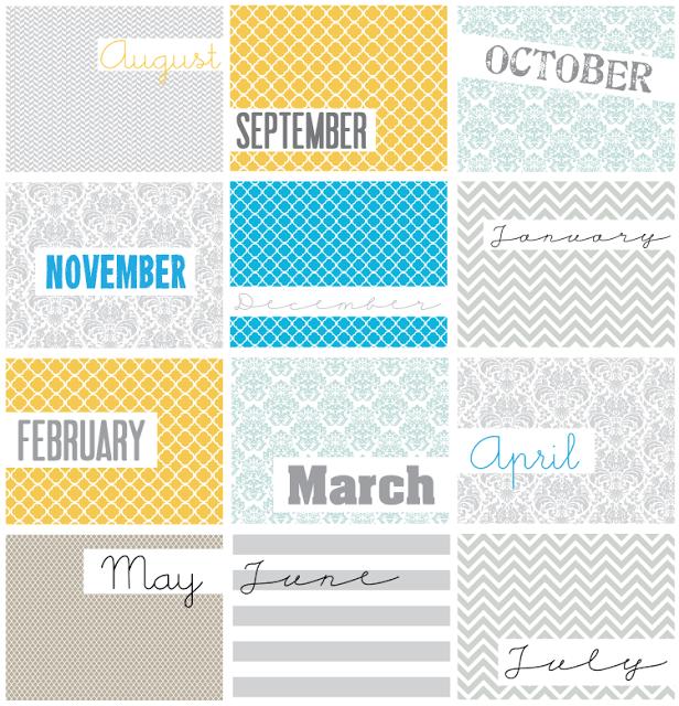 Geometric Calendar {Free Printable}