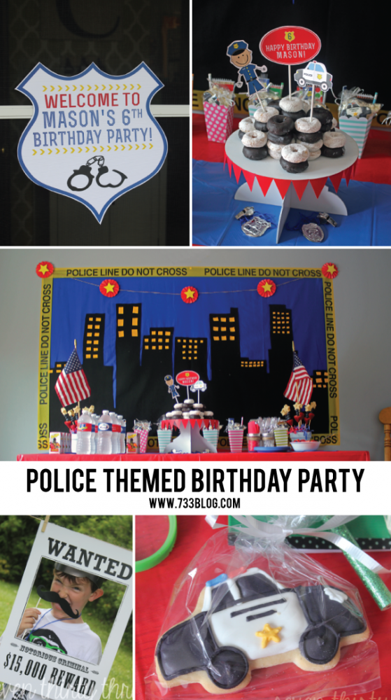 Simple and inexpensive Police Themed DIY Birthday Party!
