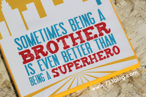 Superhero Canvas Wall Art {Free Printables}