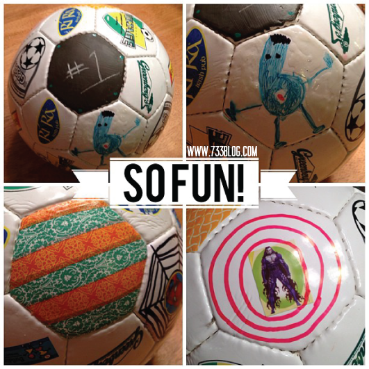 Bend It Like Beckham {Soccer Ball Decorating Competition}