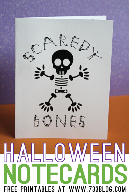 Halloween Notecards (Free Printable)