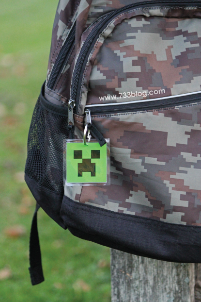 Minecraft Backpack Tag