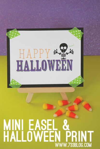 DIY Mini Easel & Free Halloween Print
