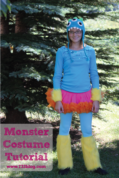 Learn how to easily piece together a fun and colorful Tween Monster Costume!