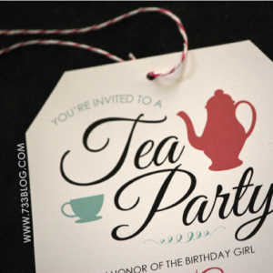 Tea Party Birthday Party Invite