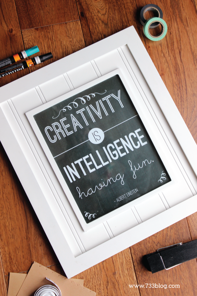 Creativity is Intelligence having Fun Printable