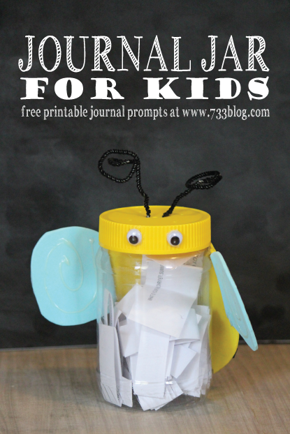 Kids Journal Jar with Free Printable Prompts