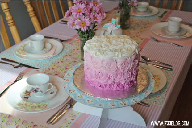 Gorgeous Ombre Rosette Cake
