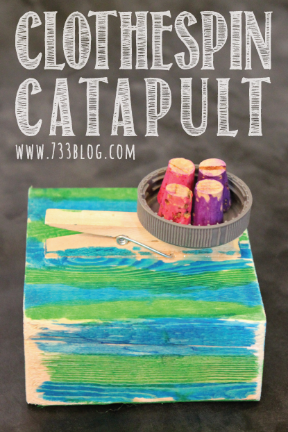 Clothespin Catapult Kids Craft
