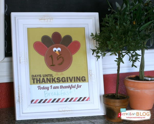 Thanksgiving Printable Countdown