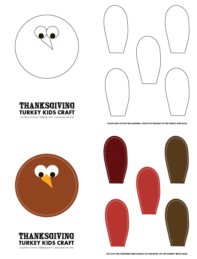 graphic relating to Printable Turkey Craft identified as Thanksgiving Turkey Little ones Craft with Free of charge Printables