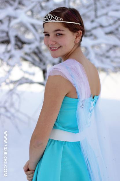 Elsa Inspired Dress Tutorial