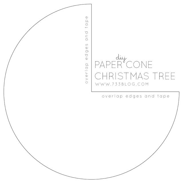 DIY Glitter Paper Cone Tree
